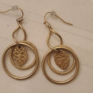 * 5/$20 * lia sophia Gold Dangle Earrings